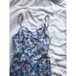 NWT Sam Edelman Blue Floral Jumpsuit